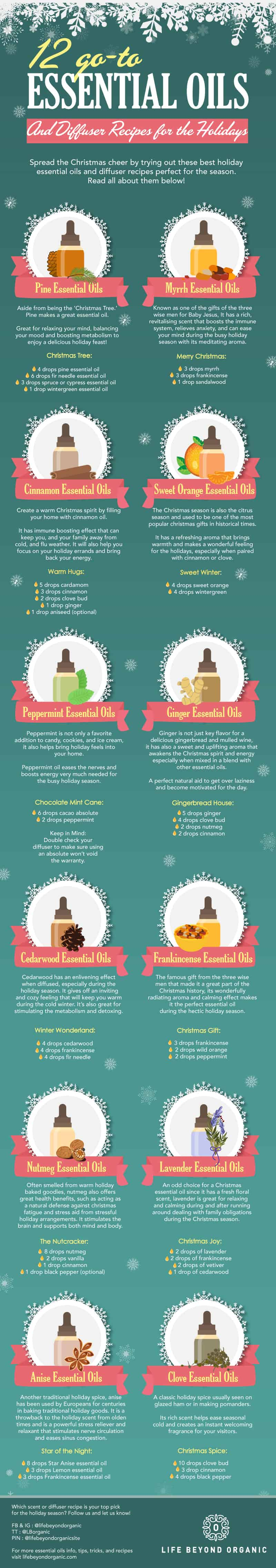 12 Go-To Essential Oils and Diffuser Recipes for the Holidays